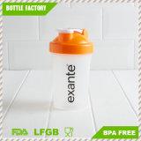 400ml BPA liberano la bottiglia di plastica dell'agitatore della proteina di sport dei pp