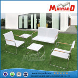 セットのステンレス鋼の家具を食事する屋外の家具の庭
