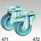 Graue TPR industrielle Schwenker-Platten-Oberseite-Fußrolle