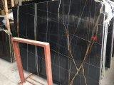 Interior Wall를 위한 Noir Aziza Marble Slab