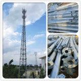 Autosuficiente del tubo de acero de tres patas de Telecomunicaciones de la torre