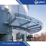6.38mm Azul templado vidrio laminado para escaleras/edificio
