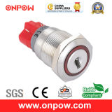 Interruptor de tecla de Onpow19mm (série de LAS1GQ, CE, VDE, RoHS)