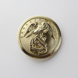 Bouton plaqué argent en métal, bouton Jeans au laser (GZHY-KA-100)