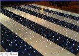 Fase de casamento Preto e Branco estrelado de LED de Dança