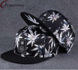 Flower Snapback Hat com borda plana