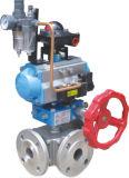 Válvula de esfera pneumática de 3 maneiras da boa qualidade