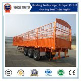40t valla camión de carga juego Trailer con 3 ejes para el transporte de carga