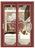 Portello scorrevole di alluminio caldo di vetro Tempered del doppio del venditore del Guangdong Holyhome