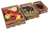 Vegetables와 Fruit를 위한 포도 수확 Rustic Wood Rectangle Decorative Crates