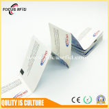 Сложенная карточка MIFARE DESFire EV1 2K/4K/8K RFID бумажная с черной меткой для принтера