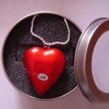 빨간 심혼 모양 USB 섬광 드라이브 4GB