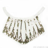 V-Neck Colours Sequined Lace Collar Fabric Beads for Dress Garment Accessories