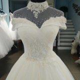Платье венчания Applique шнурка ворота Hing