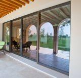 Самомоднейшая низкая раздвижная дверь e стеклянная алюминиевая для комнаты