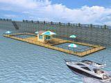 Le PEHD en mer profonde de l'Aquaculture Cage ferme d'ouverture de filet de pêche