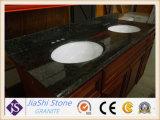 Bancada chinesa preta moderna do granito para o banheiro com 1200*600mm