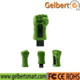 Memória Flash do USB do PVC da forma da mão do casco da película para o presente