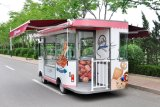De Kiosken die van het Voedsel van het elektrische voertuig Bestelwagen richten zich