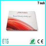 Venta caliente de 7 pulgadas de vídeo HD IPS/Tarjeta de felicitación para LCD