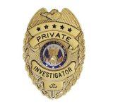 hecho personalizado de placa de policía chapado en oro.
