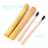 De Bambú natural contenedor Cepillo Cepillo de Dientes soporte para el Kit de viaje o regalo