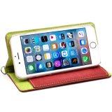 Señora Canvas Wallet Phone Case para el iPhone 6 con la correa