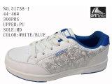 Numéro 51738 la planche à roulettes blanche des chaussures occasionnelles d'hommes de couleurs chausse 44-46#