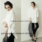 Pure Color Women Blouse Loose Casual Shirt à manches longues