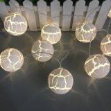 Oeuf de Pâques à LED Boule de feu de chaîne de la forme de crack pour Party de Noël Décoration d'accueil