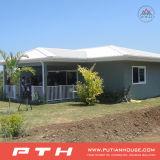 Casa de aço clara personalizada da casa de campo com tipo simples