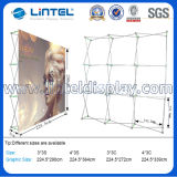 El contexto de la tela surge el soporte que hace publicidad de la cabina de la feria profesional (LT-09L2-A)