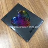 Блестящие цветные лаки мелочь окна в форме сердца PU жесткого покрытия A5 рекламных ноутбук повестки дня