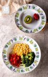 Piatto di pranzo della porcellana di stampa della decalcomania del fiore