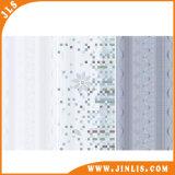 Azulejos de cerámica esmaltados blancos impermeables de la pared del cuarto de baño para la decoración interior