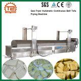 La transformation des aliments Friteuse à gaz automatique et continu de la machine de friture de tofu de courroie