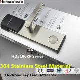En acier inoxydable 304 de la carte à puce électronique RF de serrure de porte de l'hôtel (HD5186)