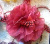 Teñido artesanal de la moda chiffon sombreros de plumas multicolores de artesanía decorativa flor