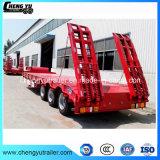 3 Semi Aanhangwagen van Lowbed van het Vervoer van de Apparatuur van assen de Op zwaar werk berekende