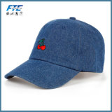 Sombrero de encargo del papá del algodón de la gorra de béisbol de la insignia del bordado del dril de algodón