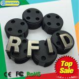 Etiqueta elegante impermeable del compartimiento del gusano de la frecuencia ultraelevada del cubo de la basura del epóxido 9662 HIGGS3 RFID