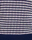 Круглой горловины Пуловер из рубчик с длинными рукавами с отверстиями
