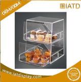 Boîte de présentation acrylique de foret de Chaud-Vente attrayante contre- avec quatre étagères