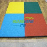 Im Freien Gummibodenbelag/quadratische Gymnastik-Gummifliesen, blockierensport GleitschutzRubbe Bodenbelag