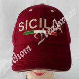 急な回復の刺繍が付いている黒いカスタムロゴ3Dの帽子