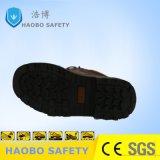 Pattino di sicurezza d'acciaio del lavoro di slittamento del cuoio spaccato della punta anti