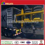Gooseneck 3axles de Aanhangwagen van de Vrachtwagen van de Container van Chassis 60ton