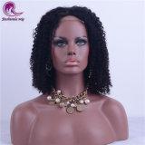 Comercio al por mayor Afro rizado cabello virgen de Malasia de encaje frontal peluca