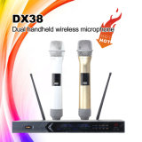 Dx38優秀な音質の手持ち型のコードレスマイクロフォン、無線マイクロフォン