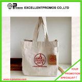 주문을 받아서 만들어진 로고에 의하여 인쇄되는 면 쇼핑 끈달린 가방 (EP-B9098B)
